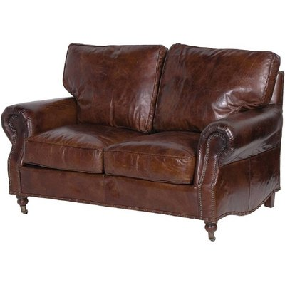 Crumple Leather Sofa Two Seater