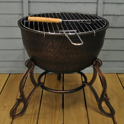 Cast Iron Garden Fire Bowl And Bbq Grill