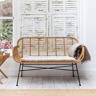 Bamboo Wrapped Double Garden Bench