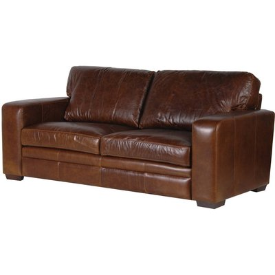 Churchill Vintage Leather Two Or Three Seater Sofa