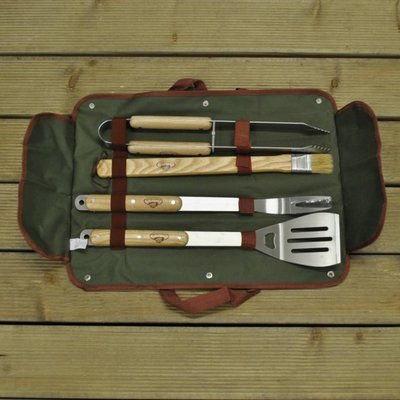 Delux Four Piece Barbecue Tool Set