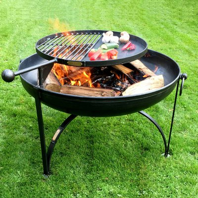 Plain Jane Firepit With Swing Arm Bbq Rack