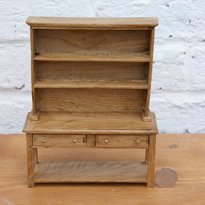 Jacobean Style Dolls House Miniature Oak Dresser