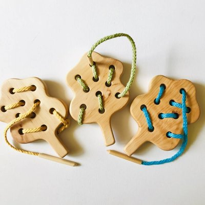 Montessori Educational Lacing Tree Toy