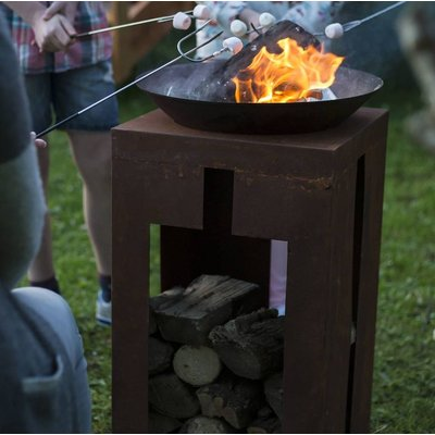 Oxidised Firepit With Stand
