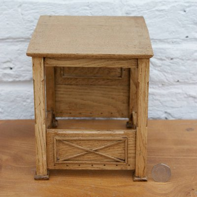 Jacobean Style Dolls House Miniature Oak Bed
