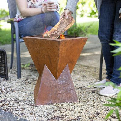 Oakland Steel Firepit With Oxidised Finish
