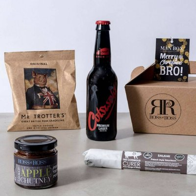 Merry Christmas Bro Man Box Beer Hamper
