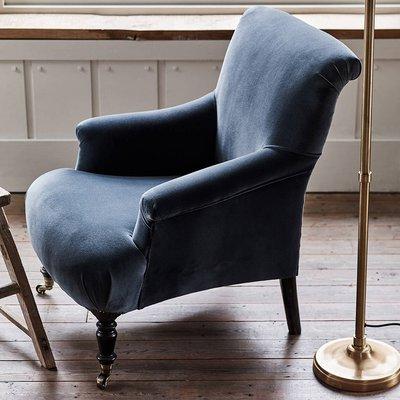 Finley Velvet Armchair, Grey