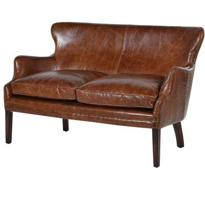 Havana Leather Two Seater Sofa