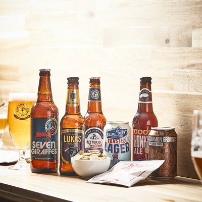 Craft Beer And Savoury Treats Gift Set For Beer Fans
