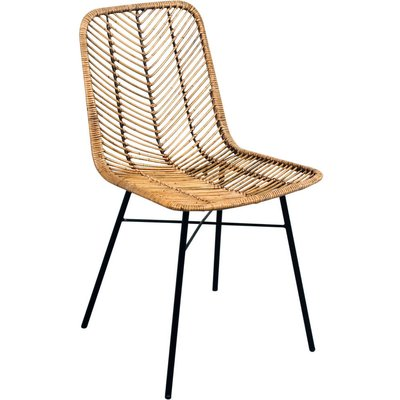 Rattan Honey Brown, Light Grey Or Black Dining Chair