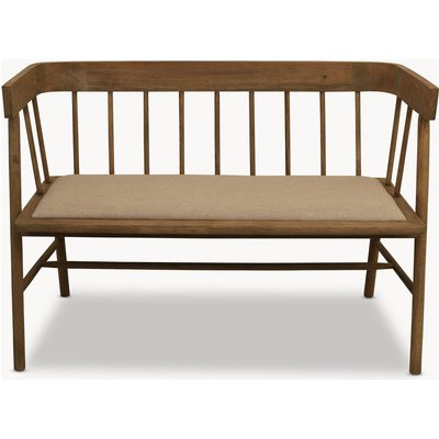 Sandhurst Two Seater Bench With Arms And Fabric Seat