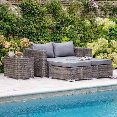 Rattan Double Lounger