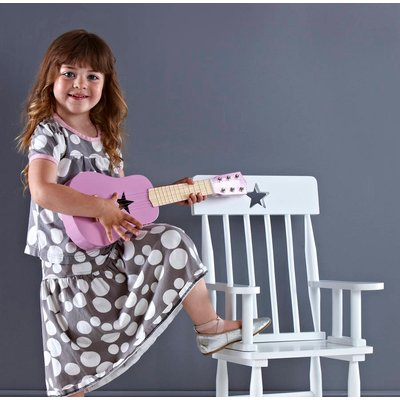 Wooden Play Guitar Pink, Pink