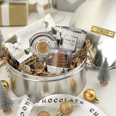 Christmas Chocolate Collection Biscuit Tin Hamper