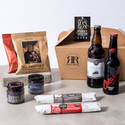 Merry Christmas Xl Man Box Beer Hamper