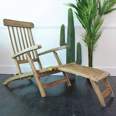 Folding Teak Garden Lounger