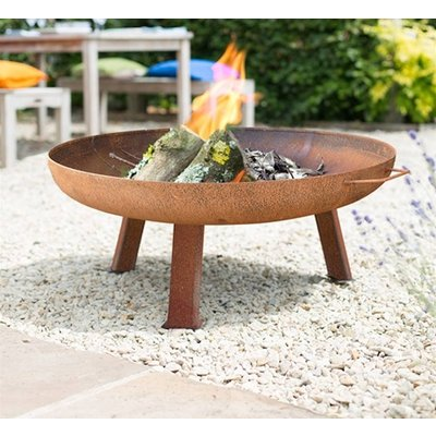 Large Industrial Style Steel Firepit