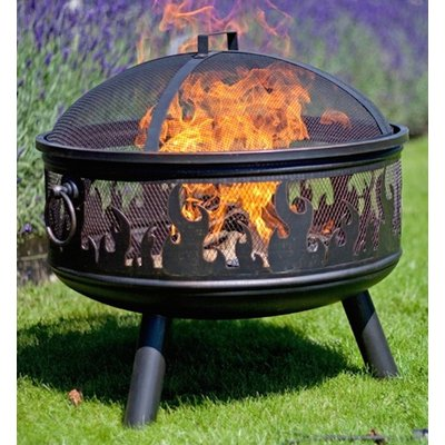 Steel Wildfire Firepit With Grill