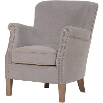 Light Grey Brushed Cotton Easy Armchair