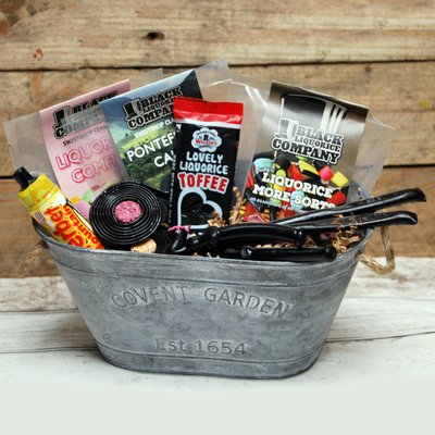 Metal Trug Hamper Stuffed With Liquorice