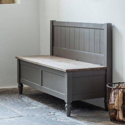 Dart Hall Bench Grey