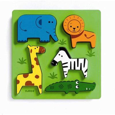 Garden Wildlife Animals Wooden Jigsaw Puzzle