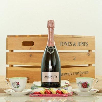 Champagne Bollinger Rose And Vintage China Gift Hamper