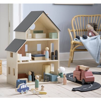 Luxury Scandi 25 Piece Wooden Dolls House