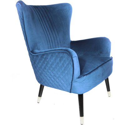 Kingston Velvet Armchair Blue