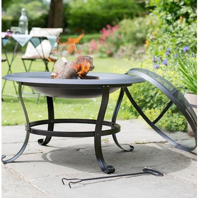 Steel Firepit Black