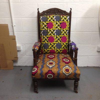 Vintage Tribal Arm Chair