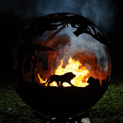 Africa Themed Sculptural Firepit