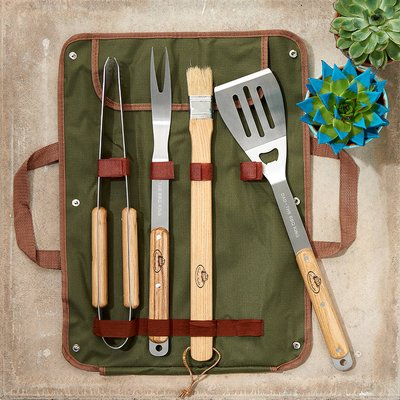 Personalised Barbecue Tool Set