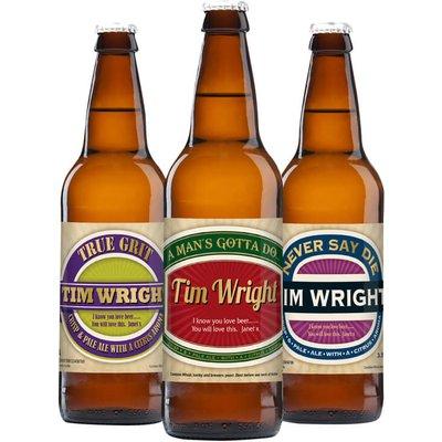 Personalised Beer - Pack of 3