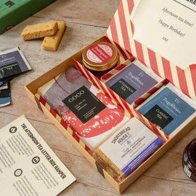 Personalised Afternoon Tea Letter Box Hamper - With British Grown Tea
