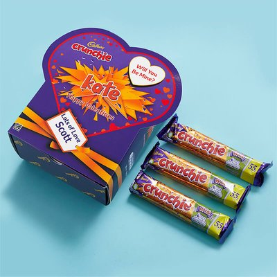 Personalised Valentines Favorites Box - Crunchie