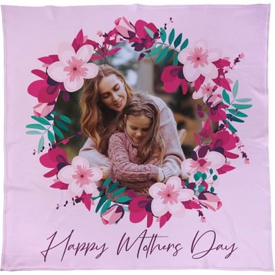 Personalised Mother's Day Floral Fleece Throw