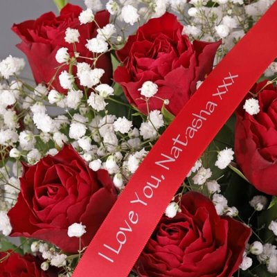 Personalised 24 Red Roses Bouquet
