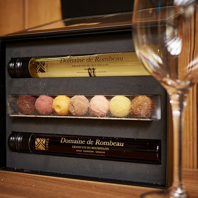 Wine In Tubes And Chocolate Truffle Gift Set - Small