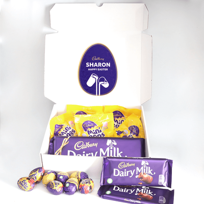 Personalised Mini Egg and Cadbury Chocolate Easter Hamper