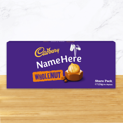 Personalised Cadbury Dairy Milk Whole Nut Share Pack