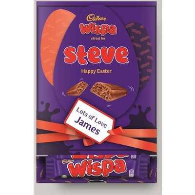 Personalised Easter Cadbury Wispa Favourites Box