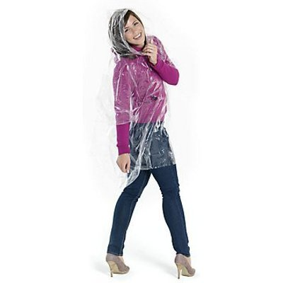 50 Personalised Disposable rain poncho with pouch - National Pen