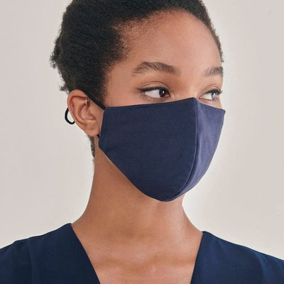 Paisie large adjustable face mask in dark blue