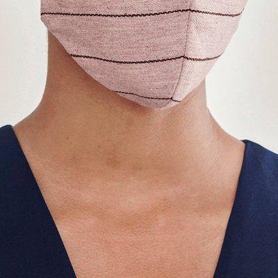 Paisie adjustable face mask in light plum