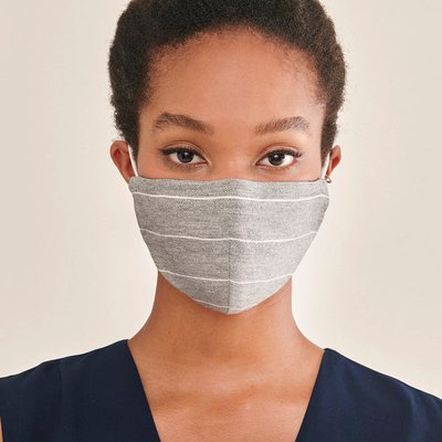 Paisie adjustable face mask in light grey