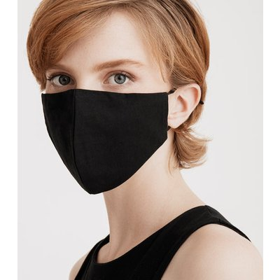 Paisie large adjustable face mask in black