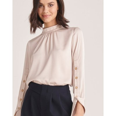 Satin blouse with buttons